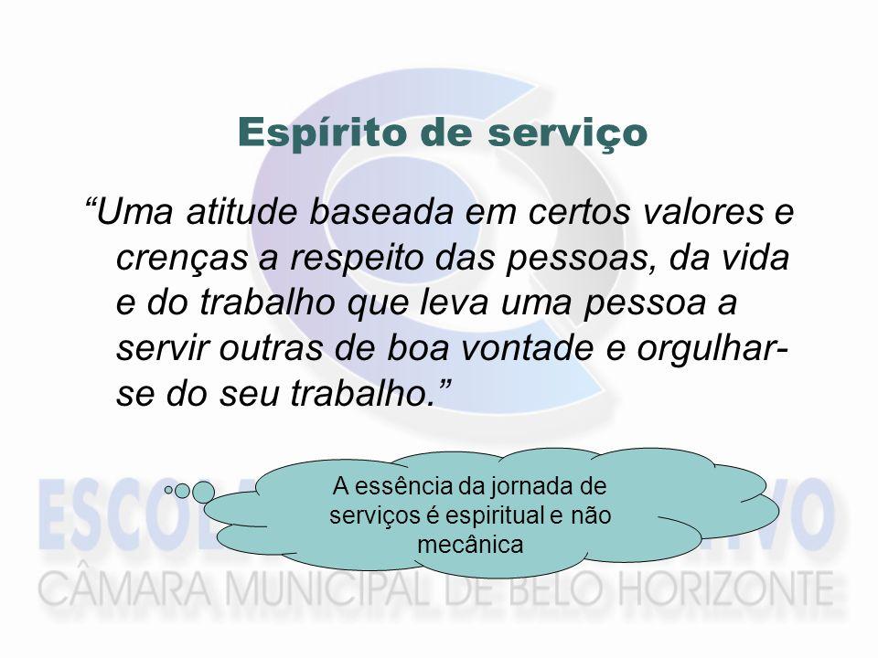 A essência da jornada de serviços é espiritual e não mecânica