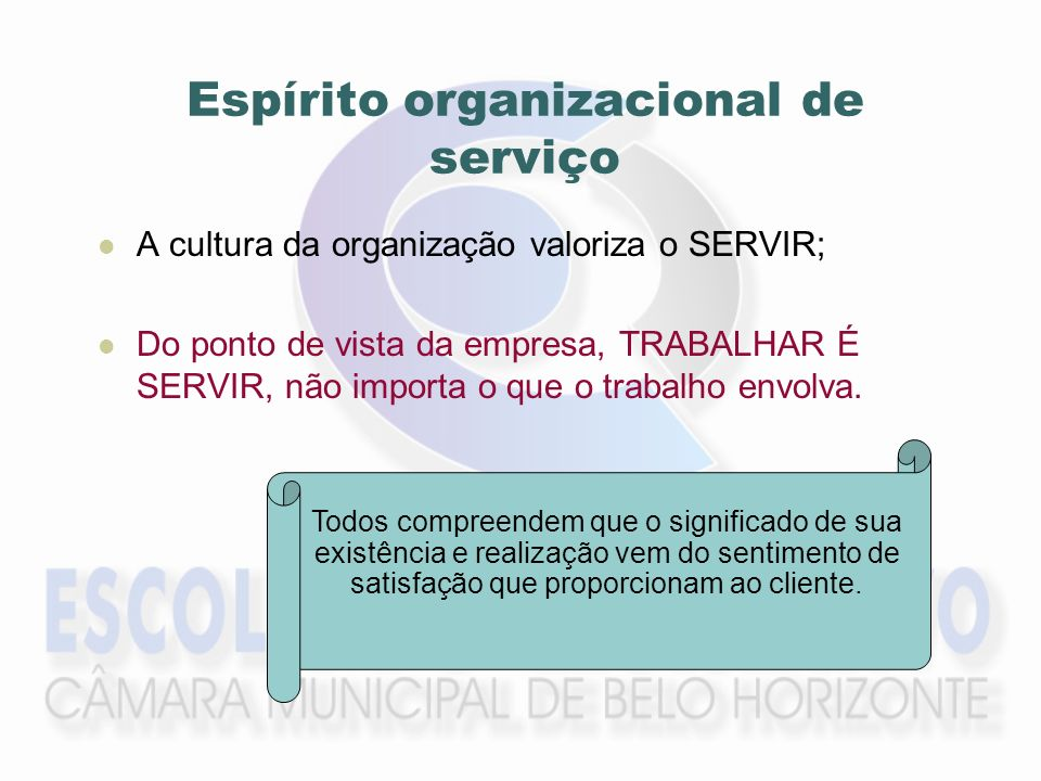 Espírito organizacional de serviço