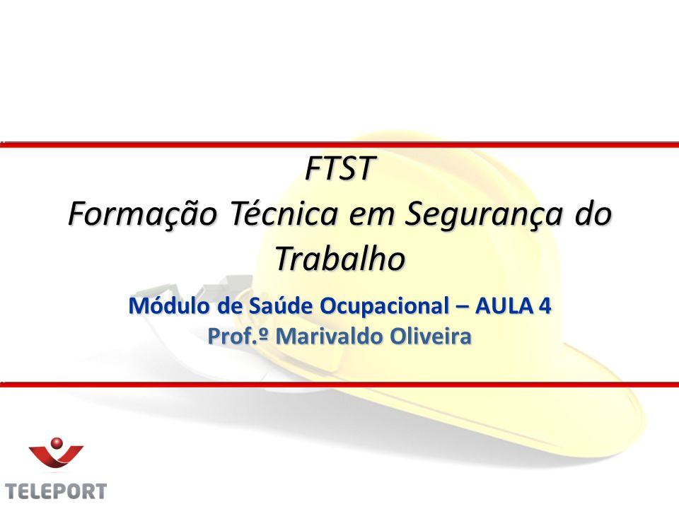 Módulo de Saúde Ocupacional – AULA 4 Prof.º Marivaldo Oliveira