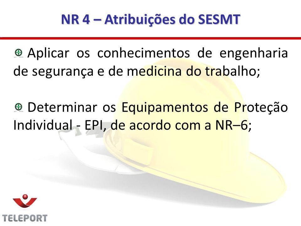 NR 4 – Atribuições do SESMT