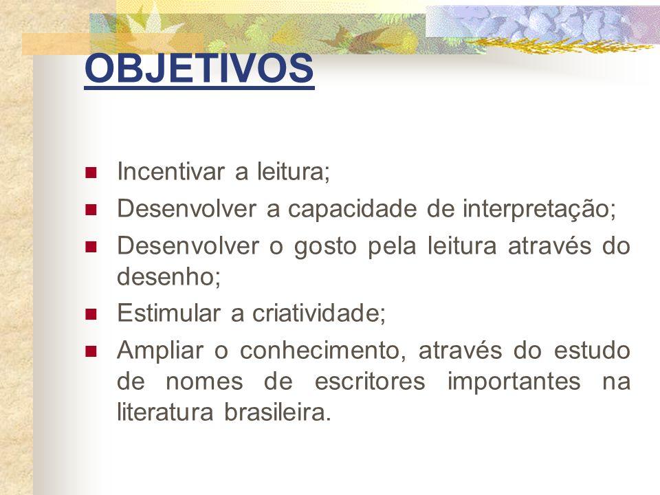 OBJETIVOS Incentivar a leitura;
