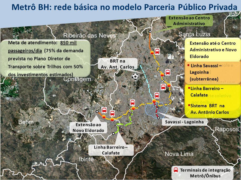 Metrô BH: rede básica no modelo Parceria Público Privada