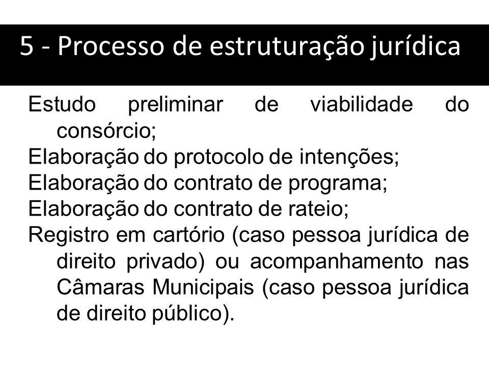 5 - Processo de estruturação jurídica:
