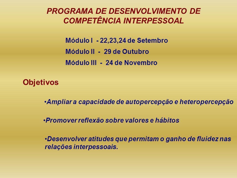 PROGRAMA DE DESENVOLVIMENTO DE COMPETÊNCIA INTERPESSOAL
