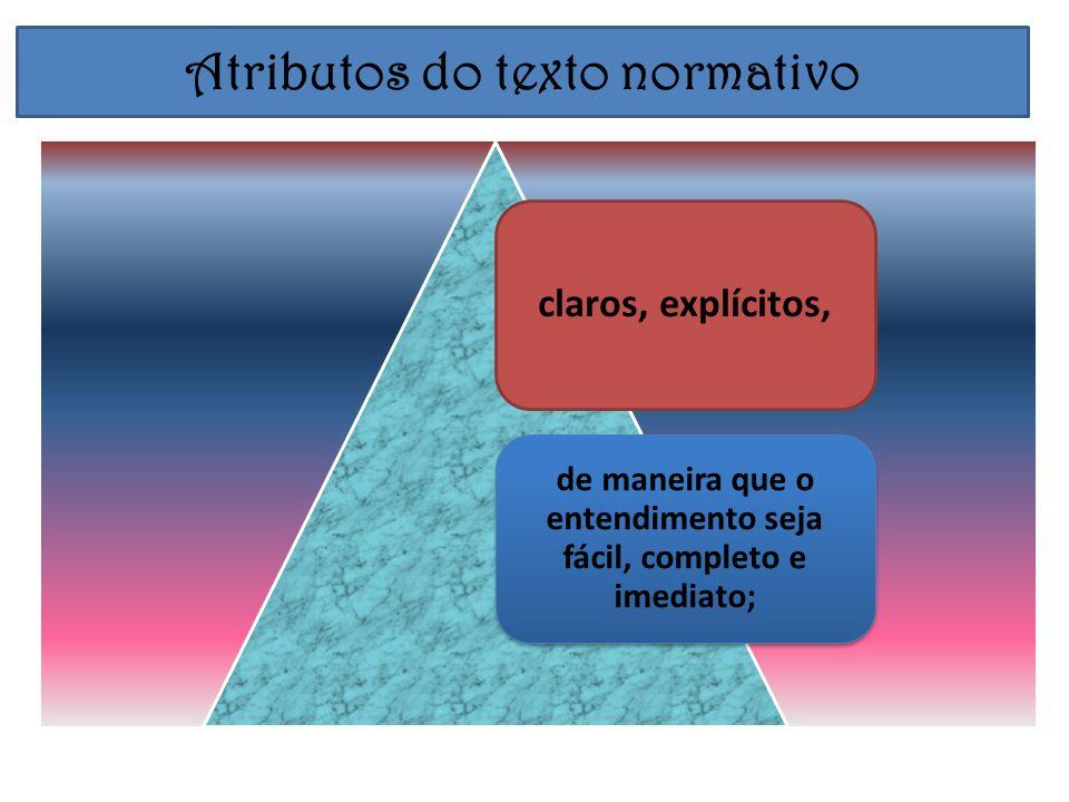 Atributos do texto normativo