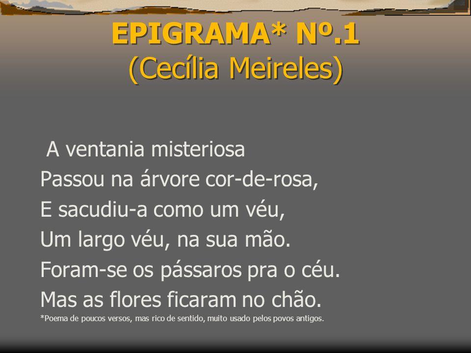 EPIGRAMA* Nº.1 (Cecília Meireles)