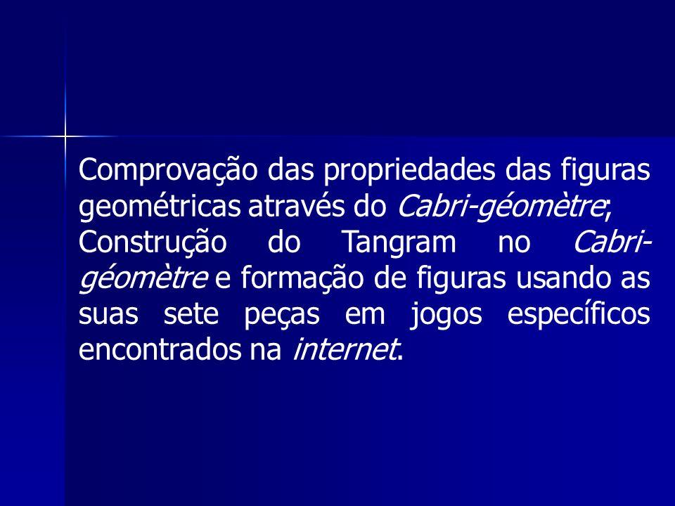 Comprovação das propriedades das figuras geométricas através do Cabri-géomètre;