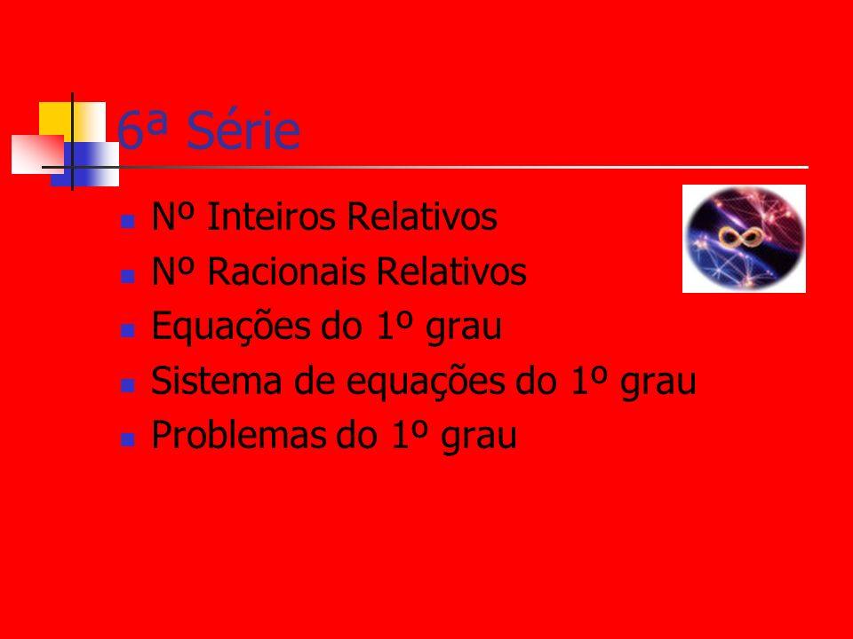 6ª Série Nº Inteiros Relativos Nº Racionais Relativos