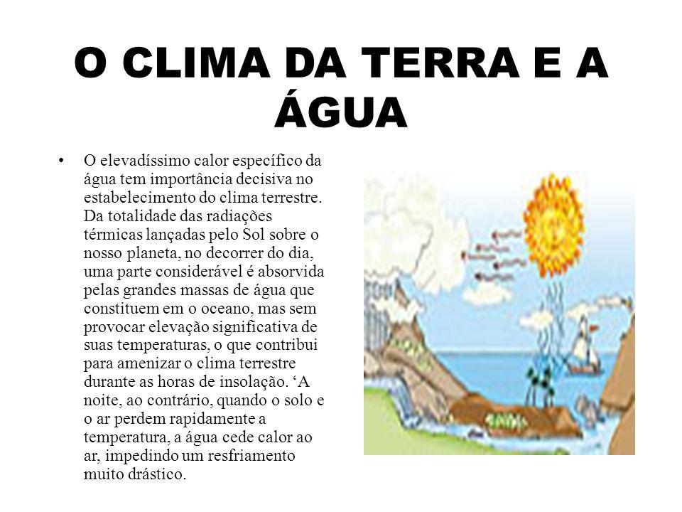 O CLIMA DA TERRA E A ÁGUA