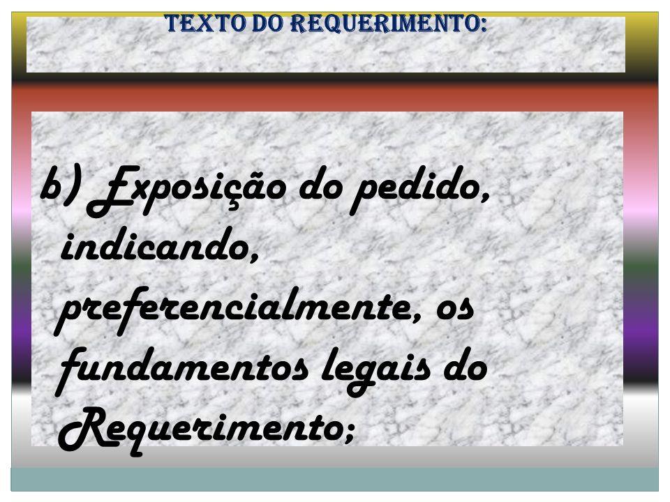 Texto do Requerimento: