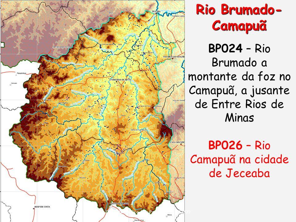 Rio Brumado- Camapuã BP024 – Rio Brumado a montante da foz no Camapuã, a jusante de Entre Rios de Minas.