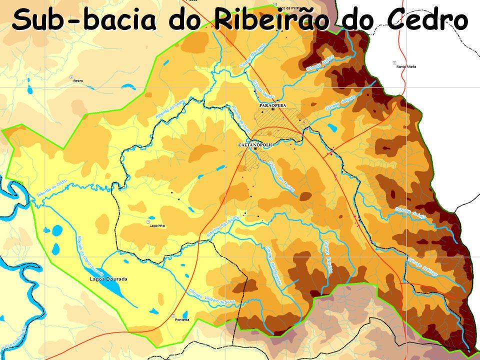 Sub-bacia do Ribeirão do Cedro