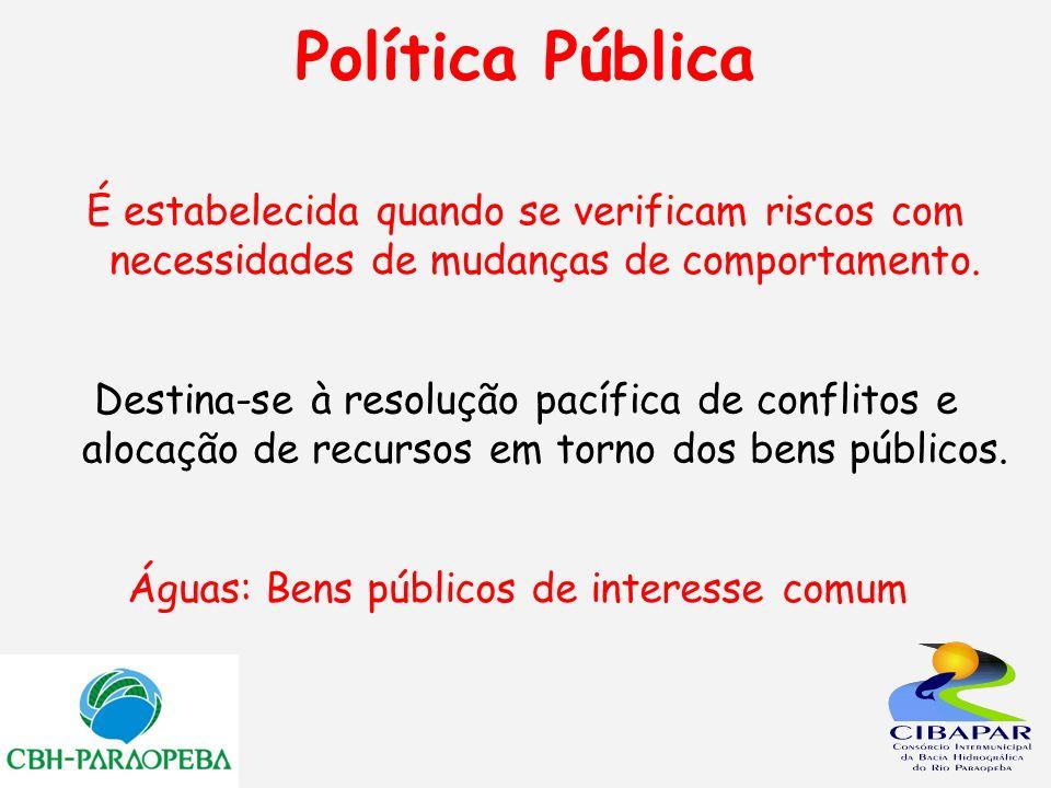 Águas: Bens públicos de interesse comum