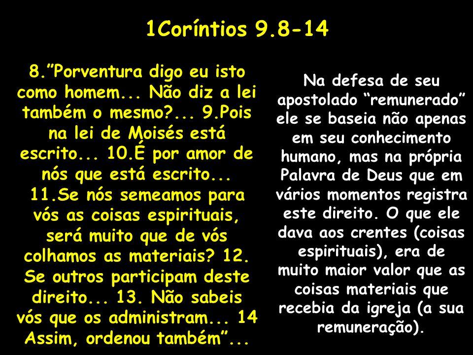 1Coríntios 9.8-14