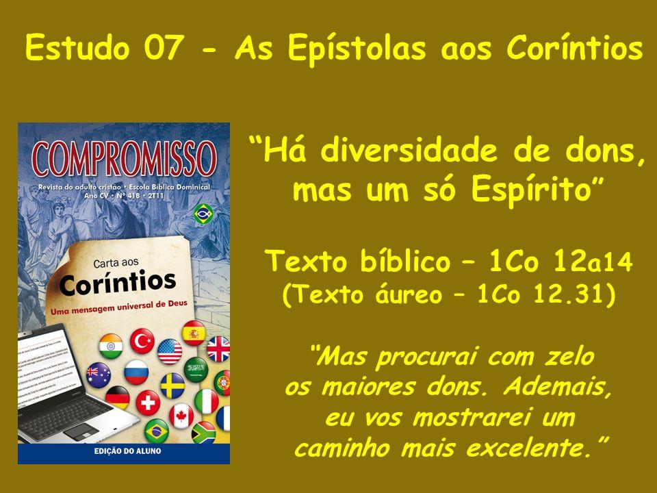 Estudo 07 - As Epístolas aos Coríntios