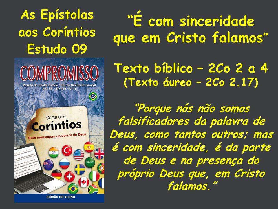 As Epístolas aos Coríntios Estudo 09
