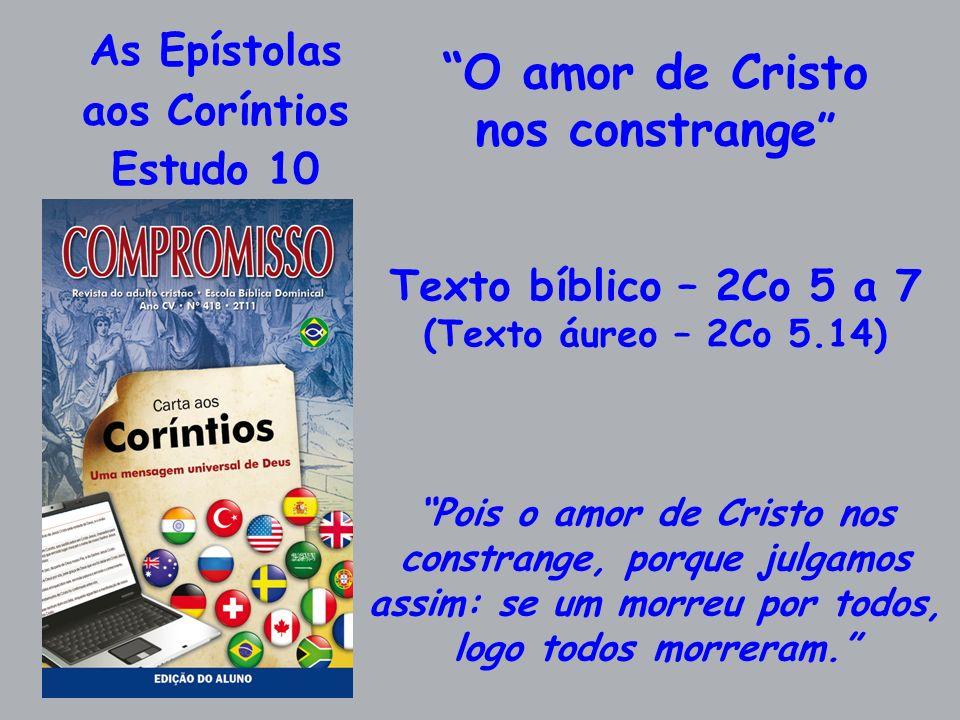 As Epístolas aos Coríntios Estudo 10