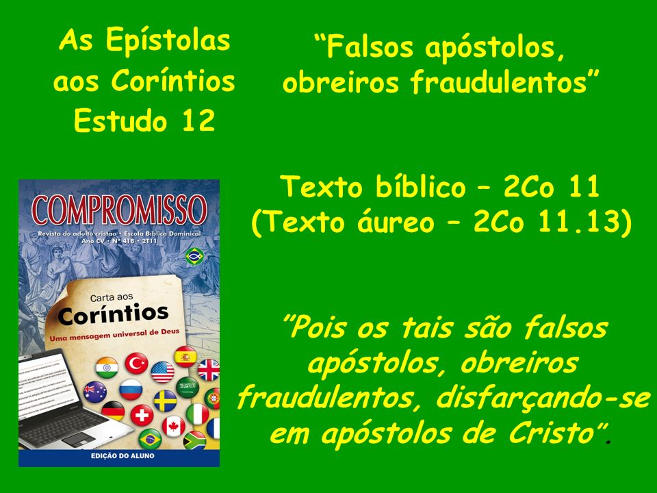 As Epístolas aos Coríntios Estudo 12