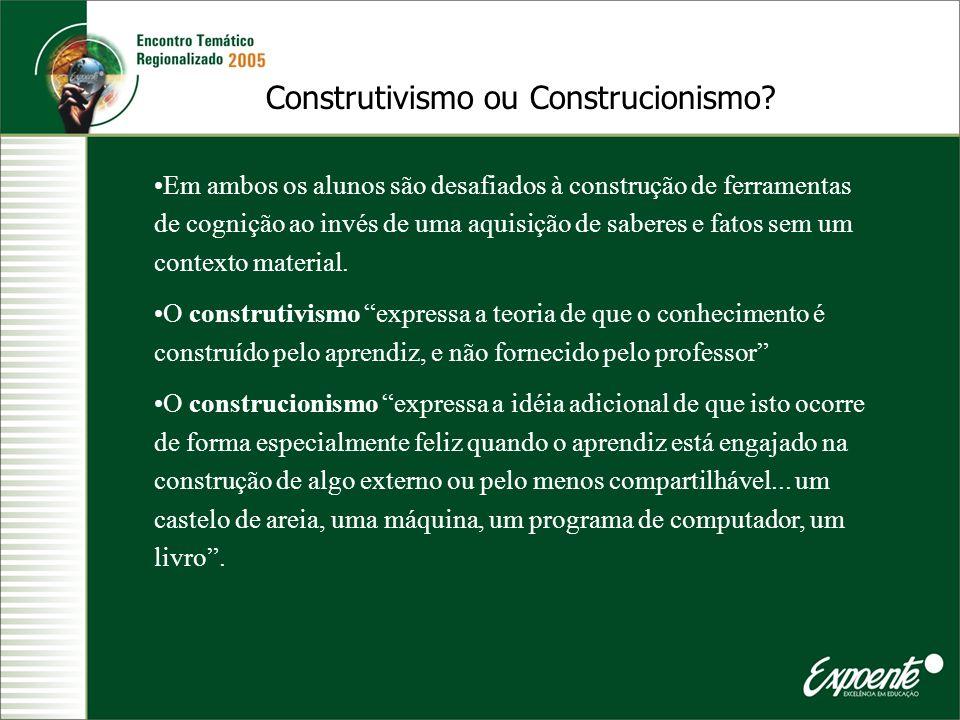 Construtivismo ou Construcionismo