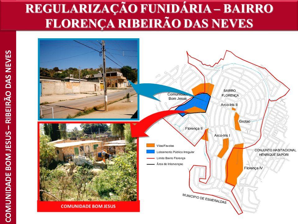 REGULARIZAÇÃO FUNIDÁRIA – BAIRRO FLORENÇA RIBEIRÃO DAS NEVES