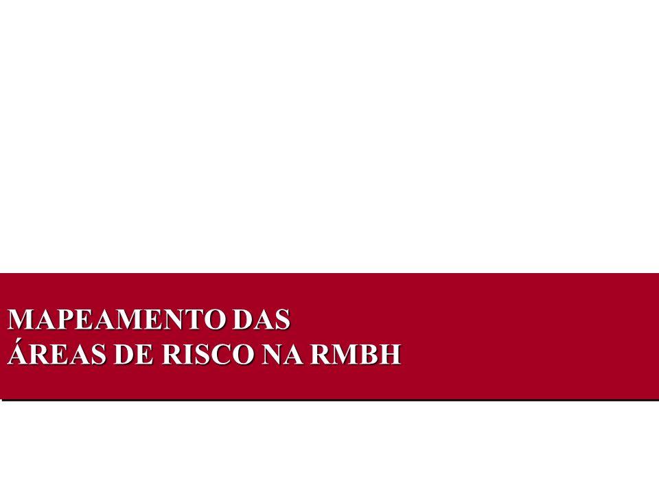 MAPEAMENTO DAS ÁREAS DE RISCO NA RMBH