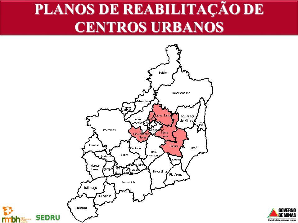 PLANOS DE REABILITAÇÃO DE CENTROS URBANOS