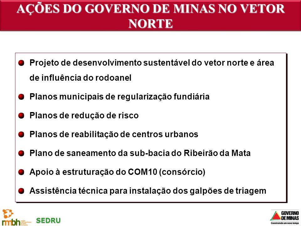 AÇÕES DO GOVERNO DE MINAS NO VETOR NORTE