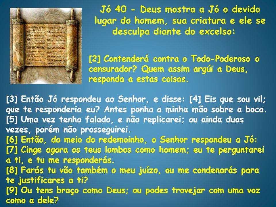 Jó 40 - Deus mostra a Jó o devido