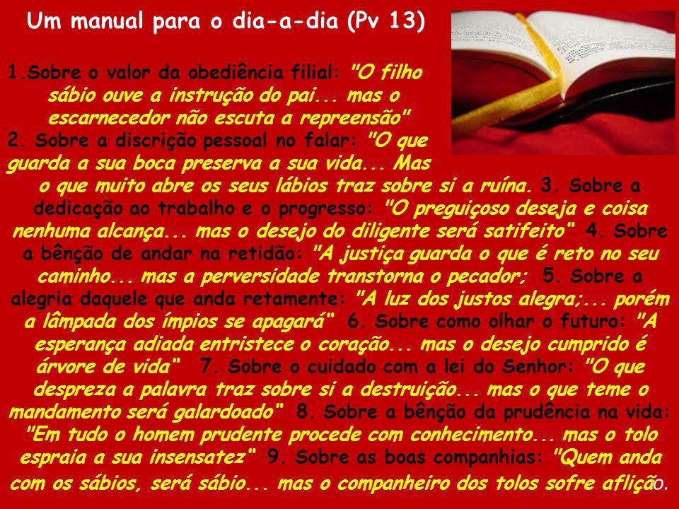 Um manual para o dia-a-dia (Pv 13)