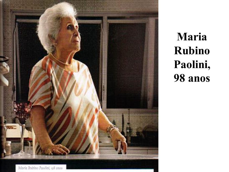 Maria Rubino Paolini, 98 anos