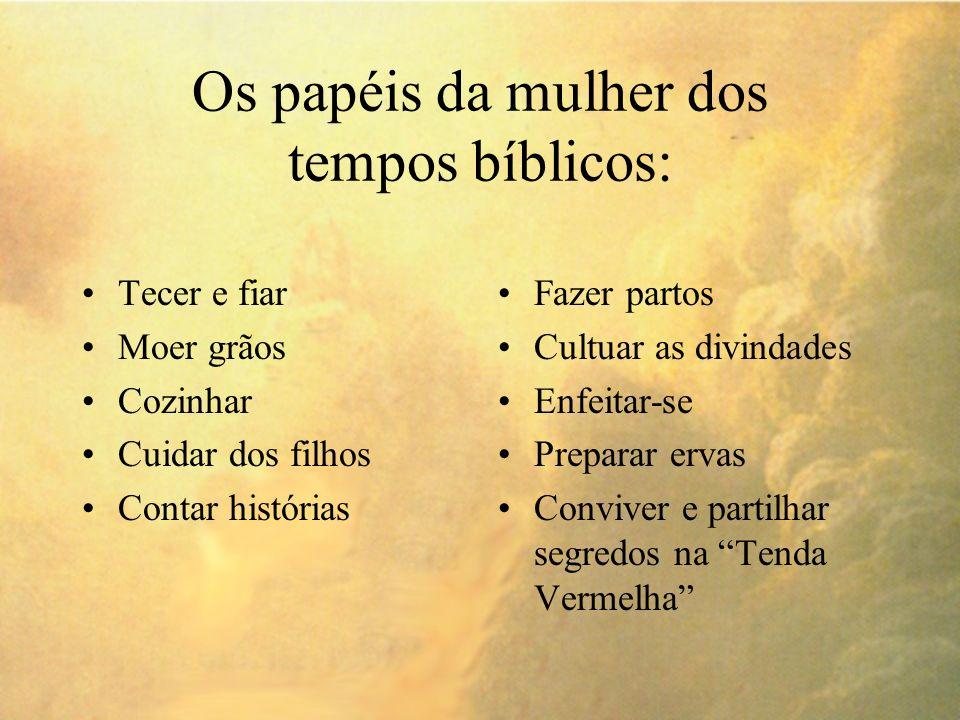Os papéis da mulher dos tempos bíblicos: