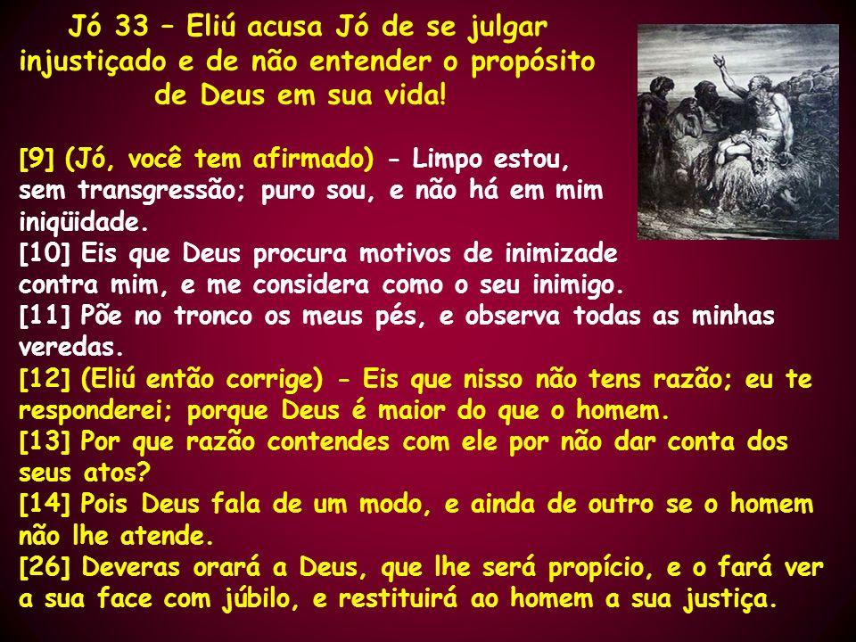 Jó 33 – Eliú acusa Jó de se julgar