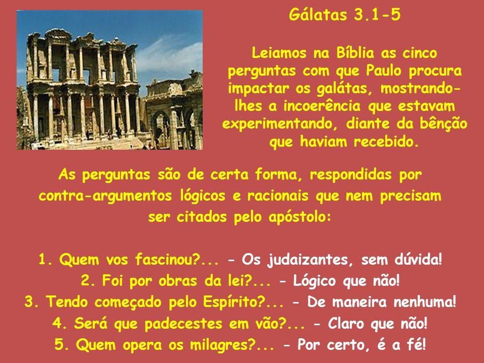Gálatas 3.1-5