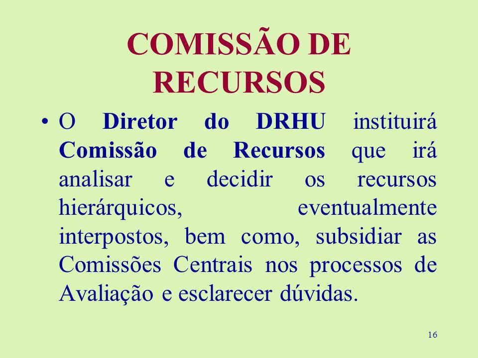 COMISSÃO DE RECURSOS
