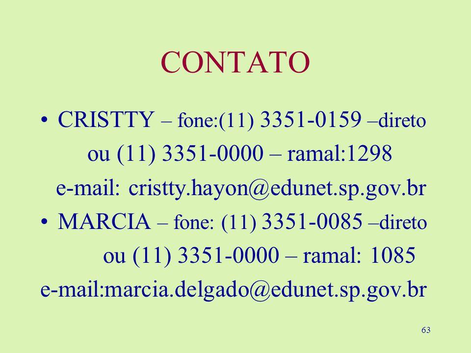 CONTATO CRISTTY – fone:(11) 3351-0159 –direto