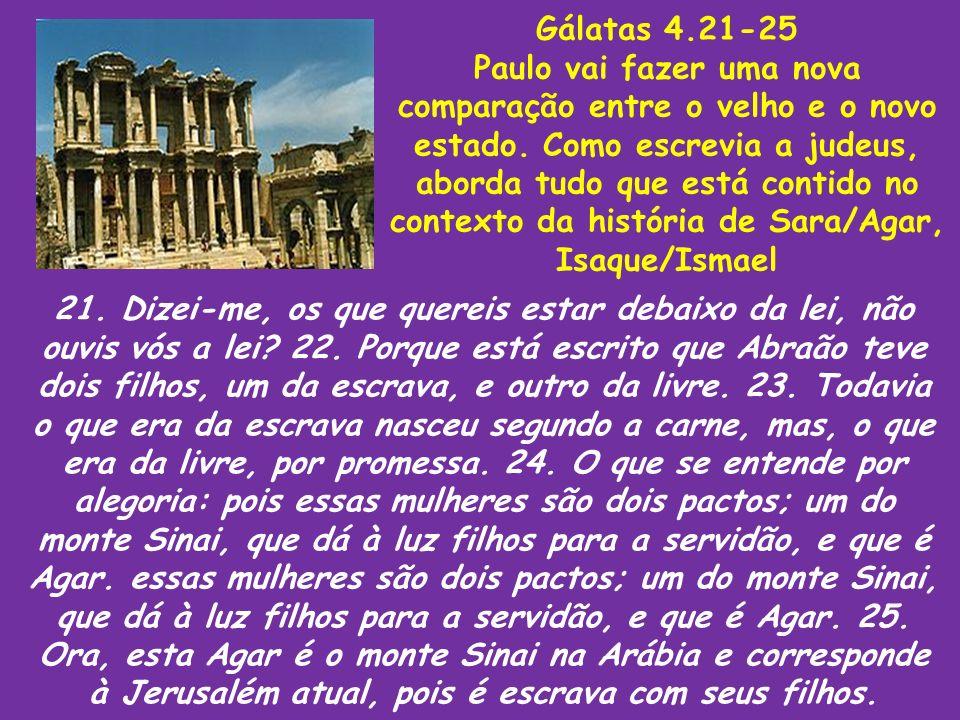 Gálatas 4.21-25