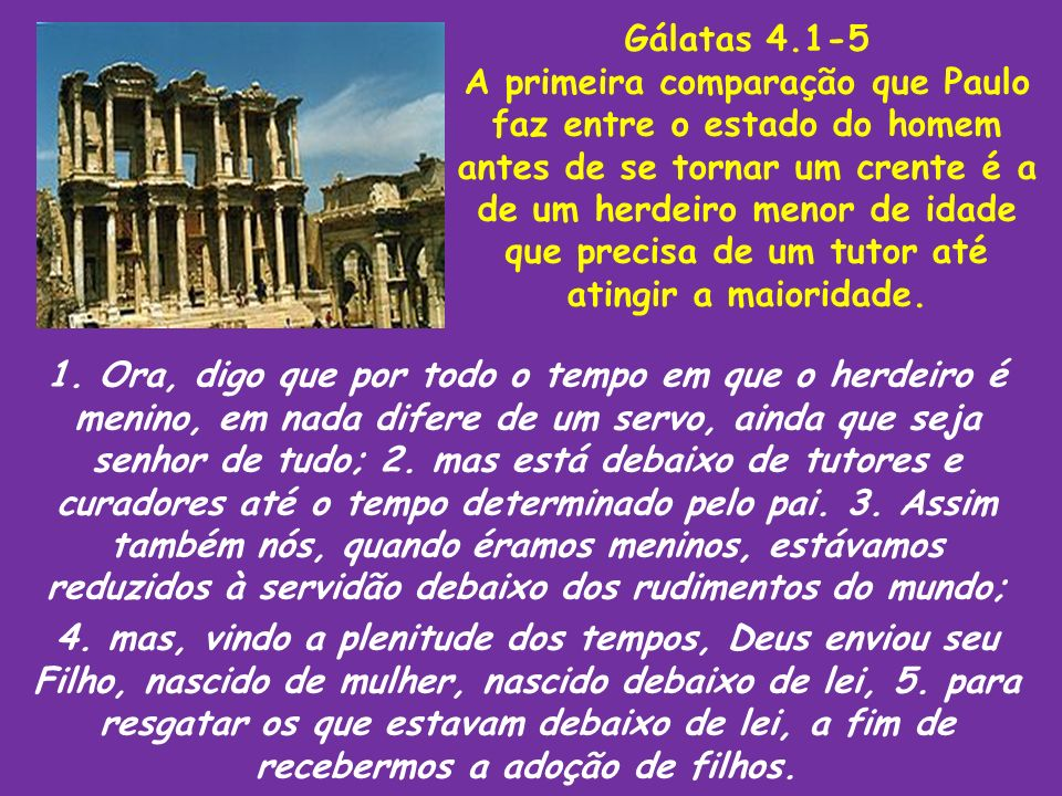 Gálatas 4.1-5