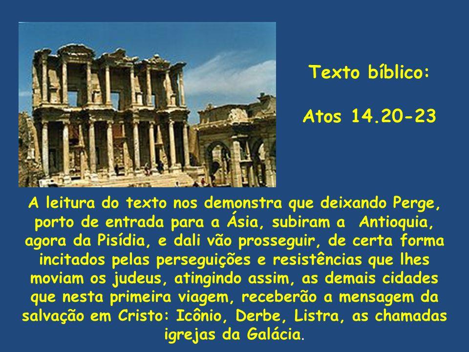 Texto bíblico: Atos 14.20-23.