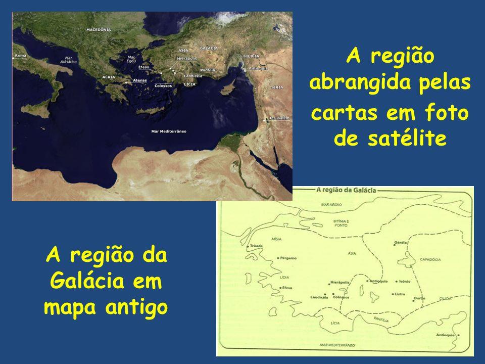 A região abrangida pelas cartas em foto de satélite