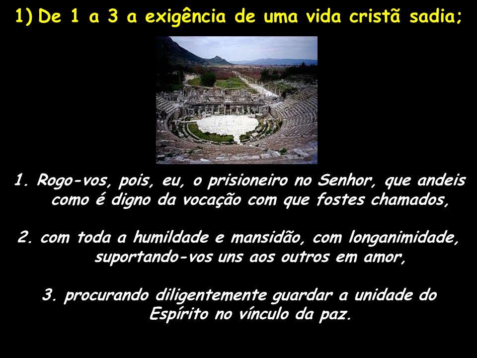 De 1 a 3 a exigência de uma vida cristã sadia;