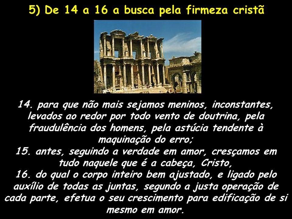 5) De 14 a 16 a busca pela firmeza cristã