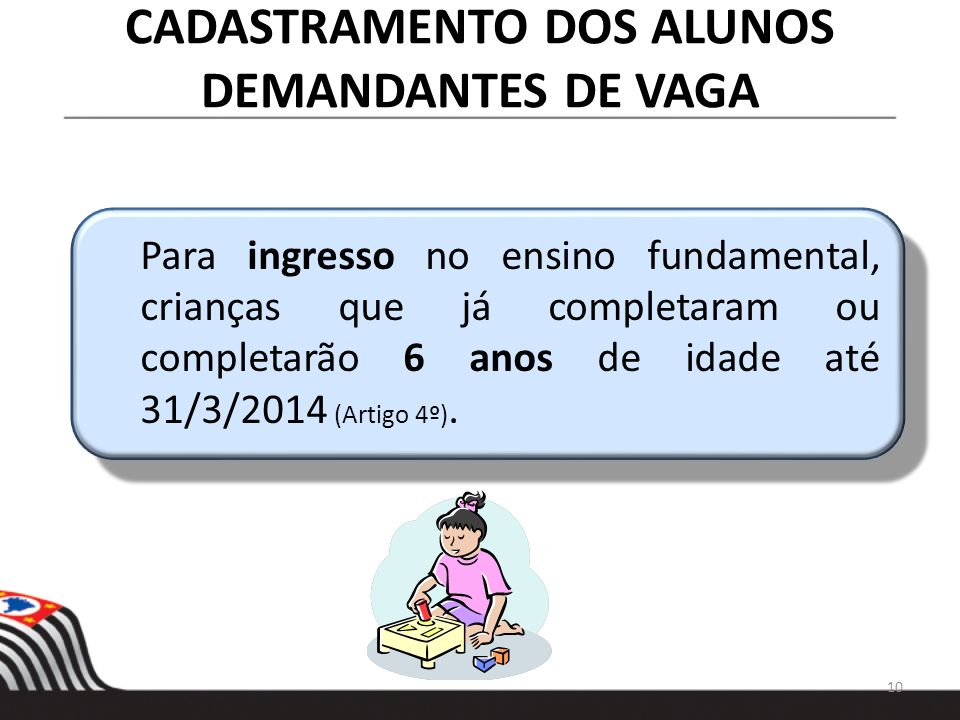 CADASTRAMENTO DOS ALUNOS DEMANDANTES DE VAGA