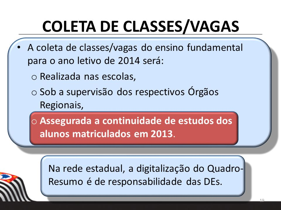 COLETA DE CLASSES/VAGAS