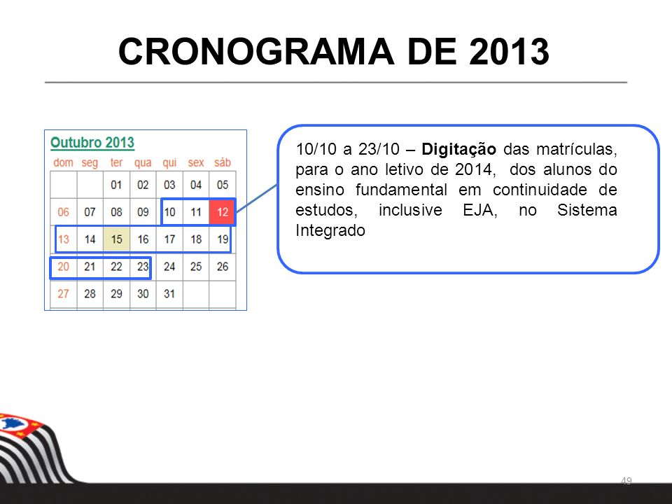 CRONOGRAMA DE 2013