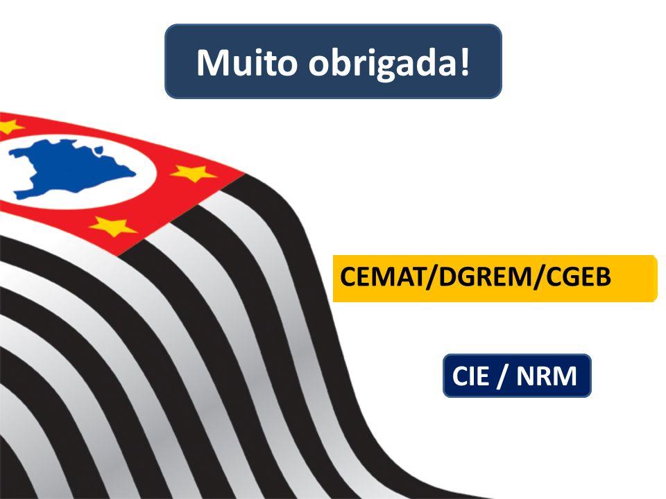 Muito obrigada! CEMAT/DGREM/CGEB CIE / NRM