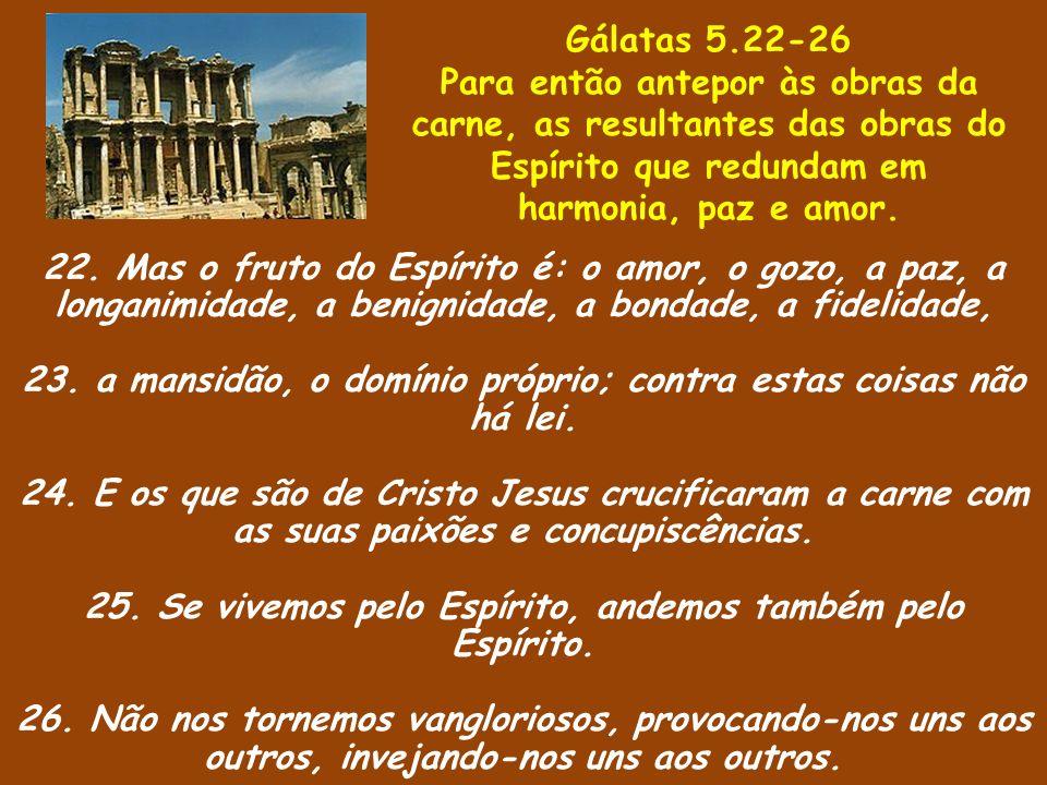 23. a mansidão, o domínio próprio; contra estas coisas não há lei.