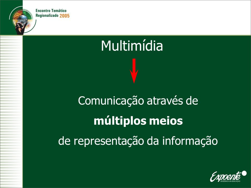 Multimídia Comunicação através de múltiplos meios
