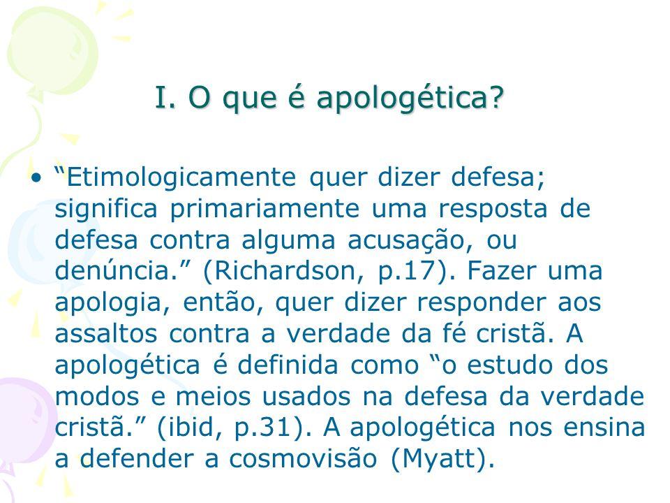 I. O que é apologética