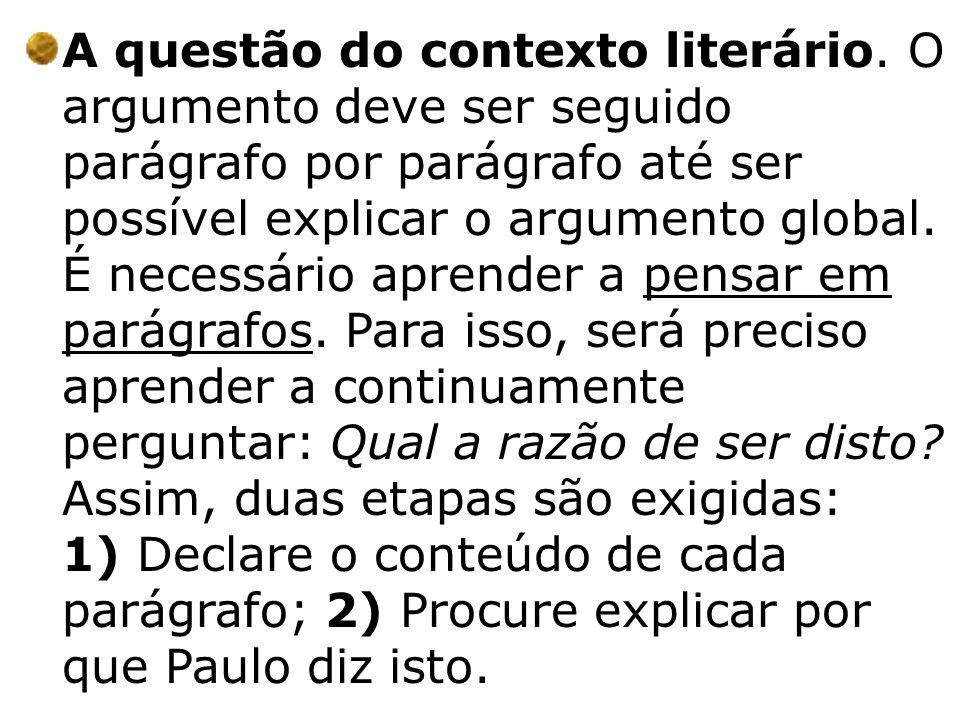 A questão do contexto literário
