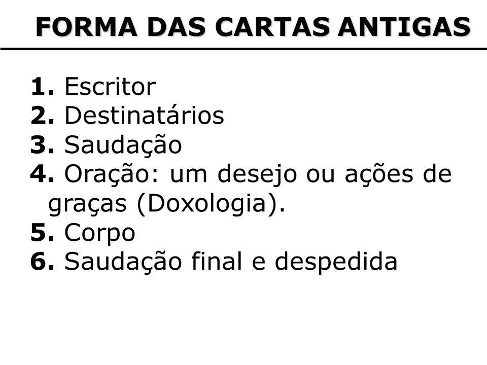 FORMA DAS CARTAS ANTIGAS